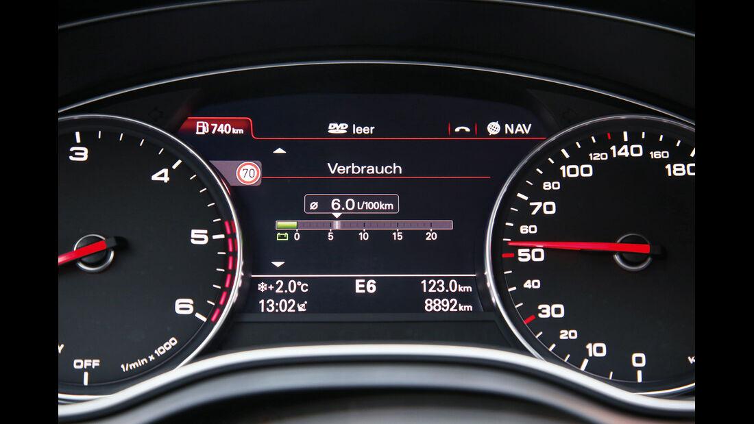 Audi A7 Sportback 3.0 TDI Ultra, Rundinstrumente