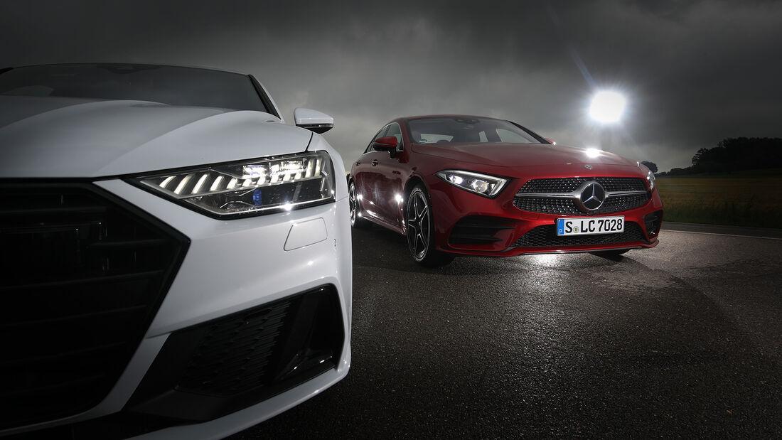 Audi A7 Sportback 55 TFSI Quattro, Mercedes CLS 450 4Matic, Exterieur
