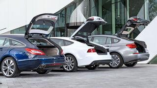 Audi A7 Sportback, BMW 530d GT, Mercedes CLS Shooting Brake