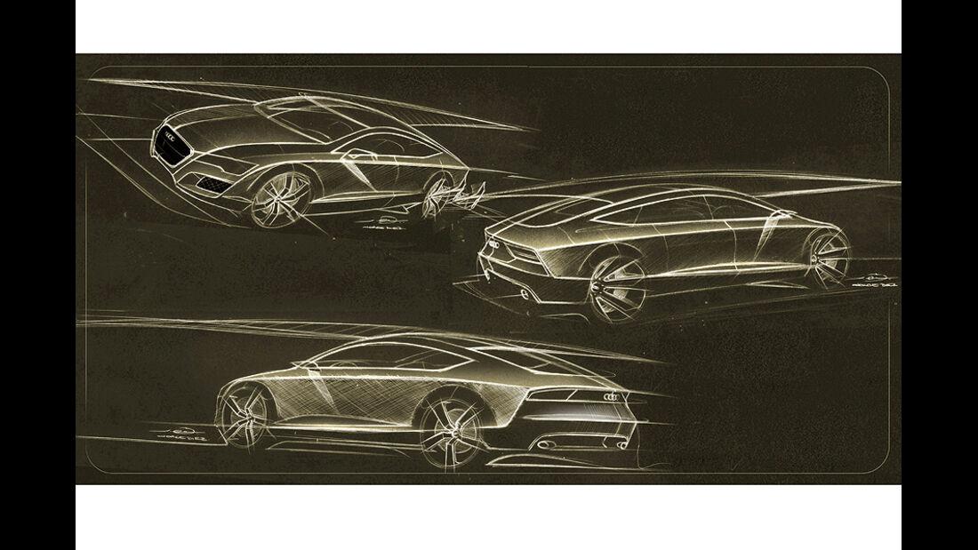 Audi A7 Sportback, Designzeichnungen