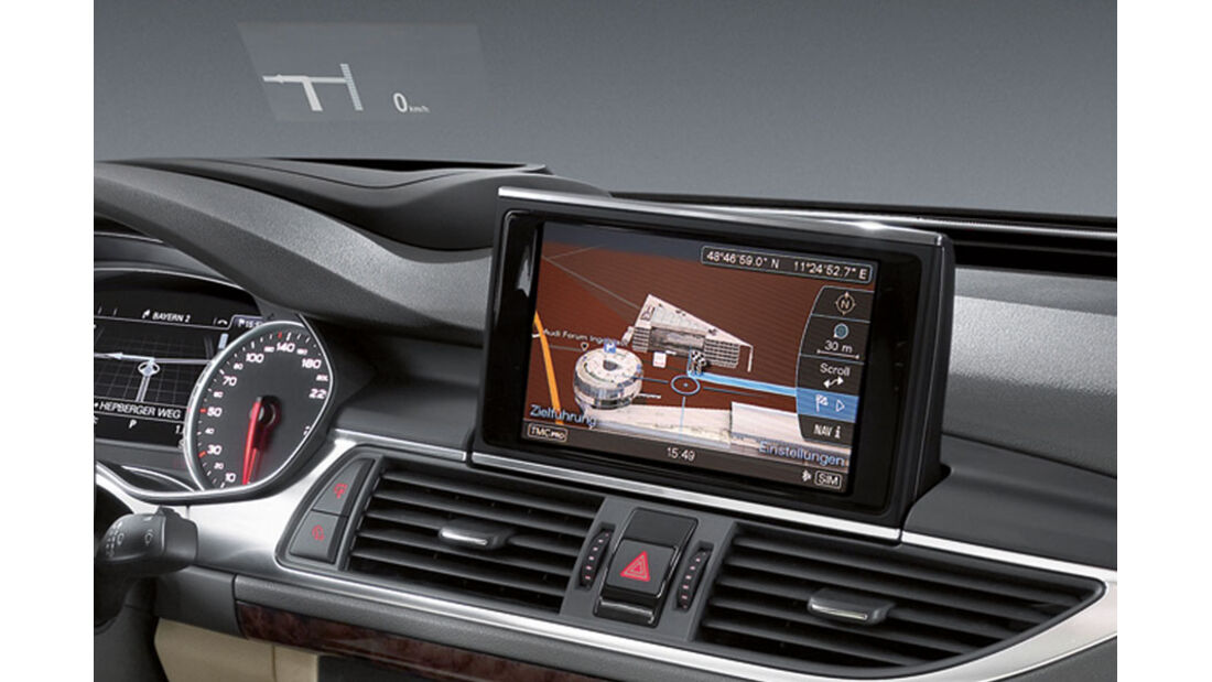 Audi A7 Sportback, Head-up-Display
