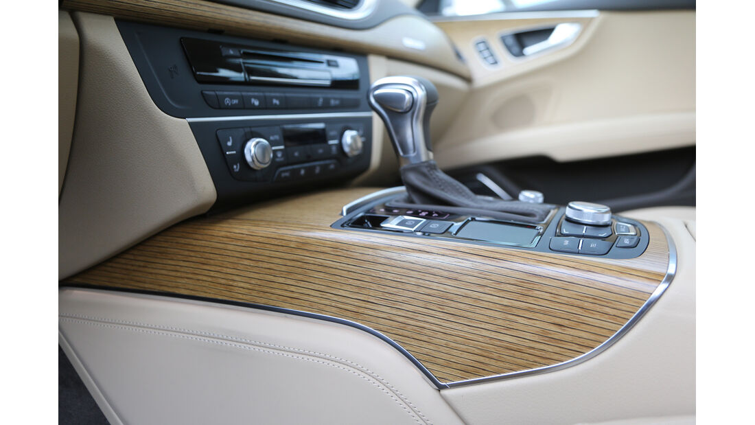 Audi A7 Sportback, Mittelkonsole, Schalthebel