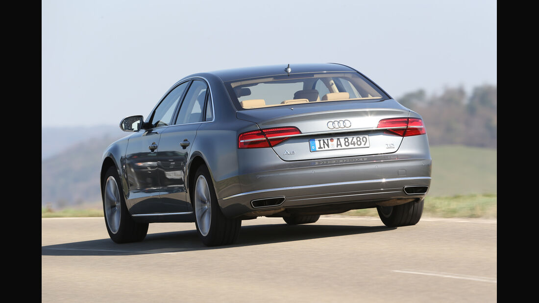 Audi A8 3.0 TDI Clean Diesel, Heckansicht