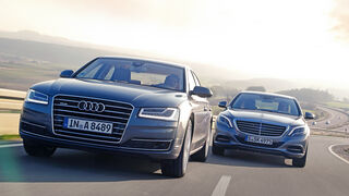 Audi A8 3.0 TDI Clean Diesel, Mercedes S 350 Bluetec, Frontansicht