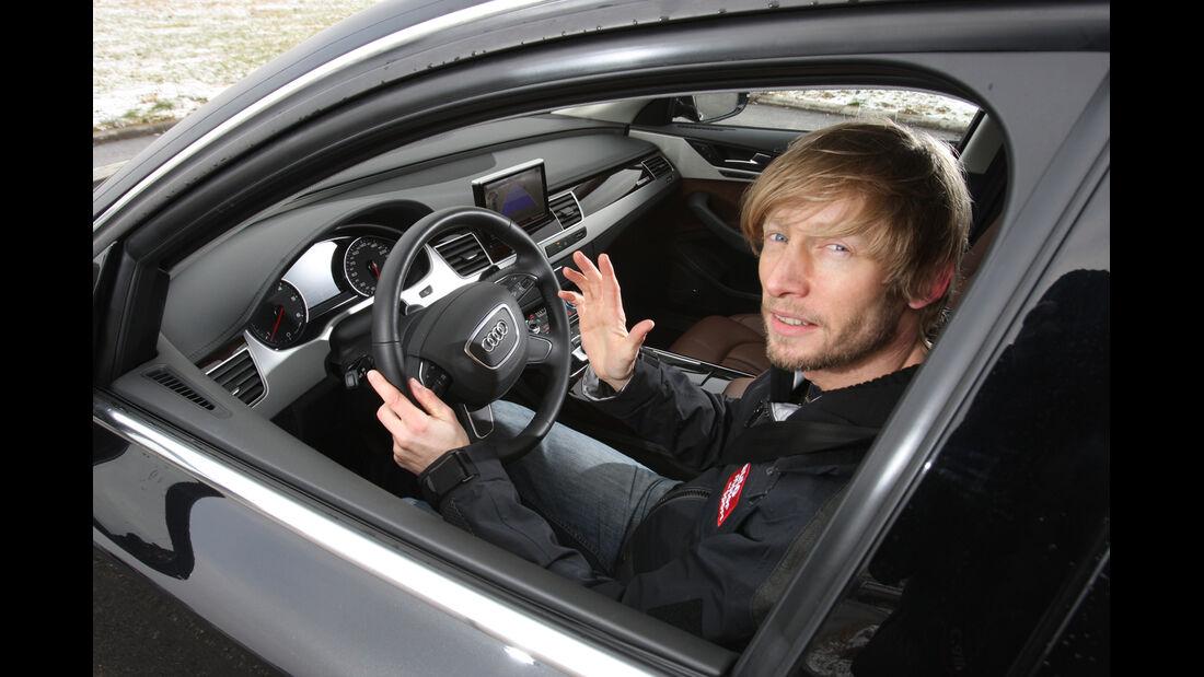 Audi A8 3.0 TDI Quattro, Marcus Peters, Cockpit