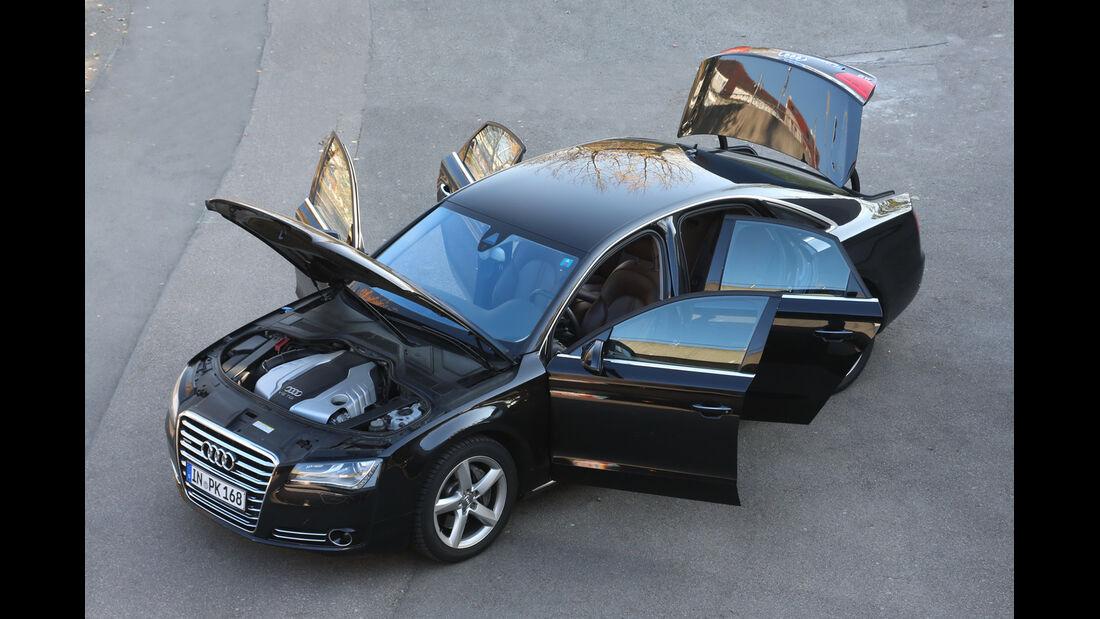 Audi A8 3.0 TDI Quattro, von oben, Türen offen