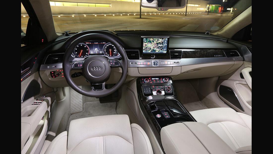 Audi A8 4.0 TFSI Quattro, Innenraum, Cockpit