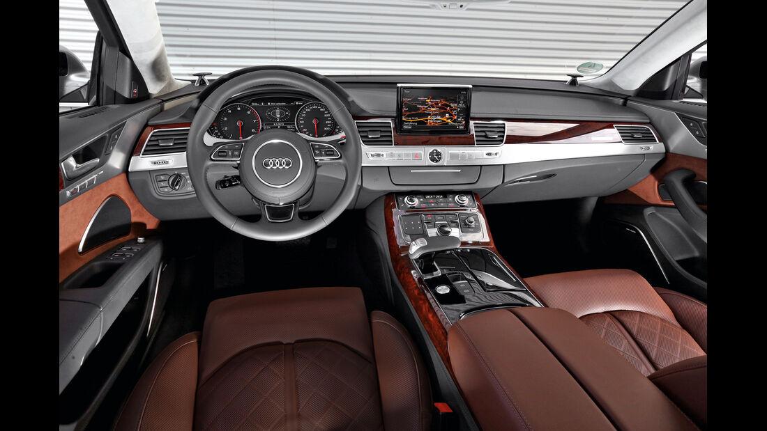 Audi A8 4.0 TFSI quattro, Cockpit, Lenkrad