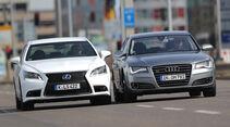 Audi A8 4.0 TFSI quattro, Lexus LS 600h F-Sport, Frontansicht