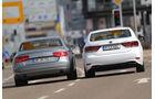 Audi A8 4.0 TFSI quattro, Lexus LS 600h F-Sport, Heckansicht