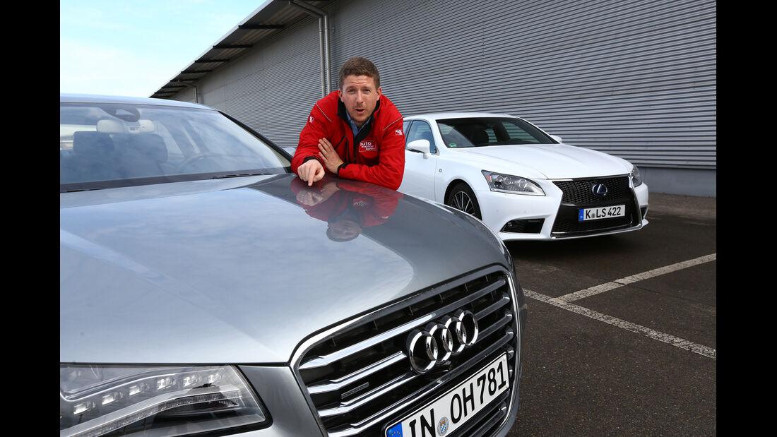 Audi A8 4.0 TFSI quattro, Lexus LS 600h F-Sport, Jens Dralle
