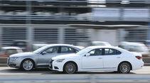 Audi A8 4.0 TFSI quattro, Lexus LS 600h F-Sport, Seitenansicht