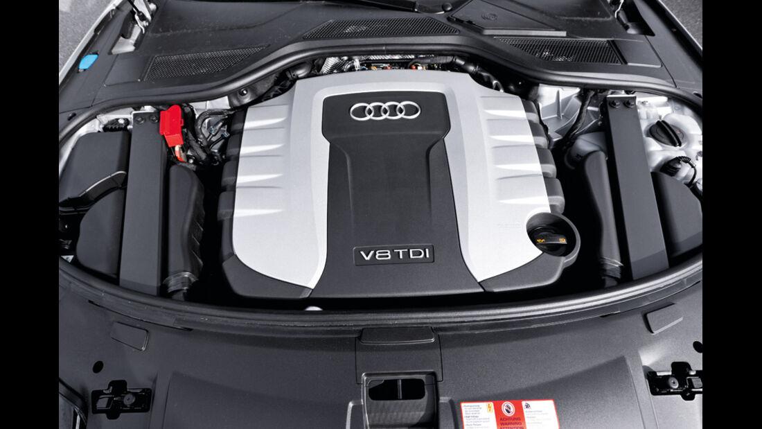 Audi A8 4.2 FSI, Audi A8 4.2 TDI, Motor, Motorraum