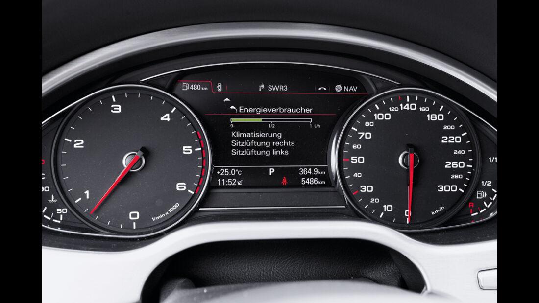 Audi A8 4.2 FSI, Audi A8 4.2 TDI, Tacho, Anzeigeinstrumente