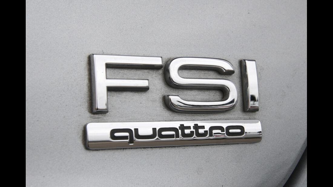 Audi A8 4.2 FSI Quattro, FSI, Schriftzug
