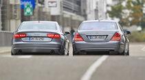 Audi A8 4.2 FSI Quattro, Mercedes S 500, RŸckansicht