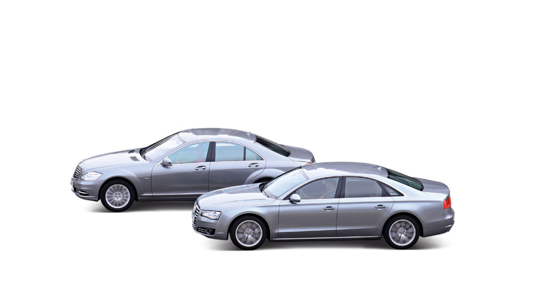 Audi A8 4.2 FSI Quattro, Mercedes S 500, Seitenansicht