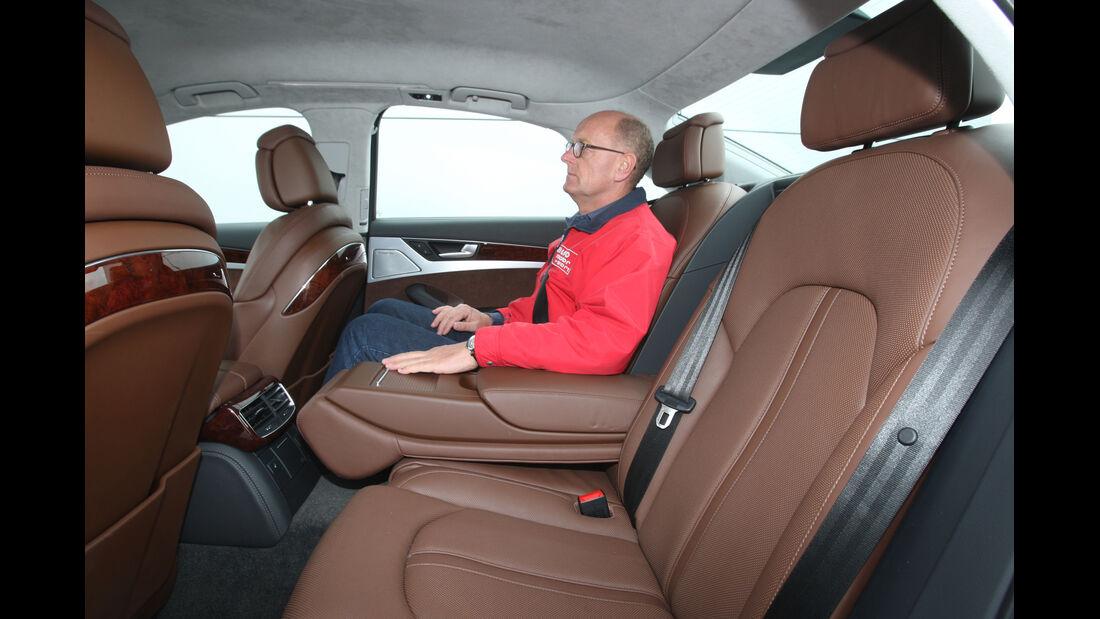Audi A8 4.2 FSI Quattro, Rücksitz, Rückbank