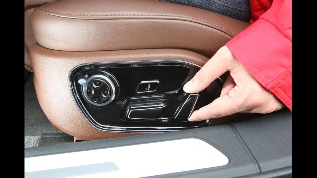 Audi A8 4.2 FSI Quattro, Sitzeinstellung
