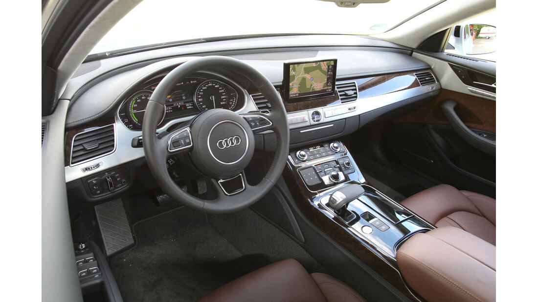 Audi A8 Hybrid, Cockpit, Innenausstattung