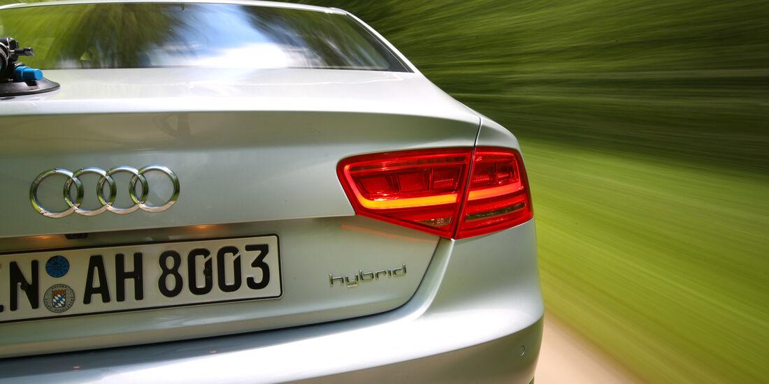 Audi A8 Hybrid, Heck, Rücklicht