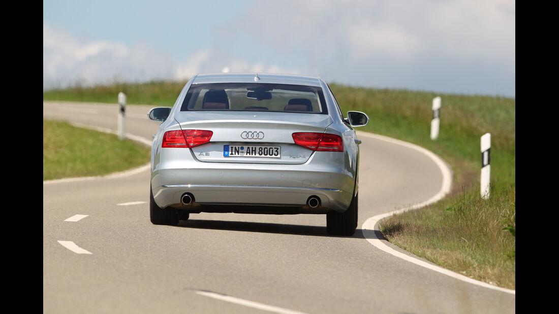 Audi A8 Hybrid, Heckansicht