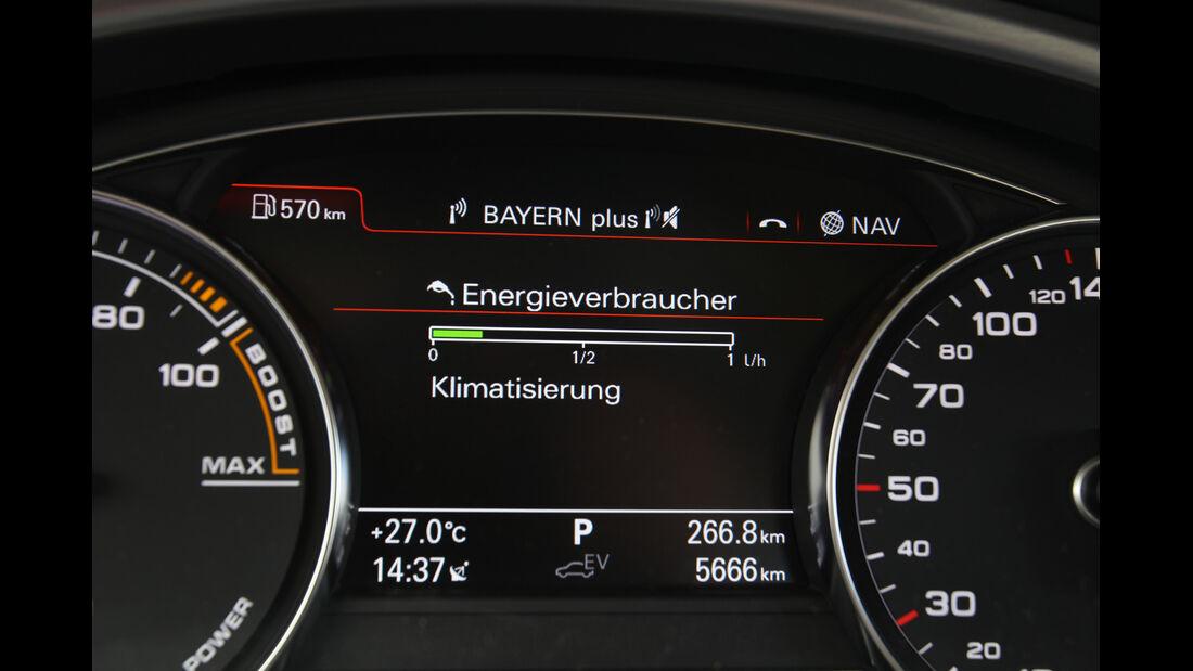 Audi A8 Hybrid, Rundinstrumente