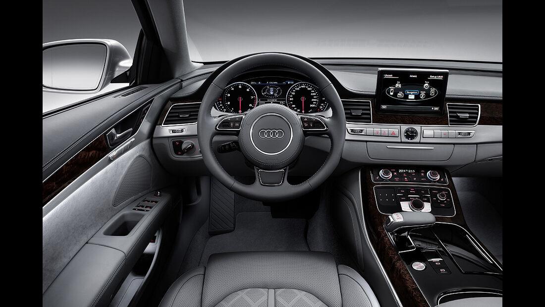 Audi A8 L, Langversion, Cockpit, Innenraum