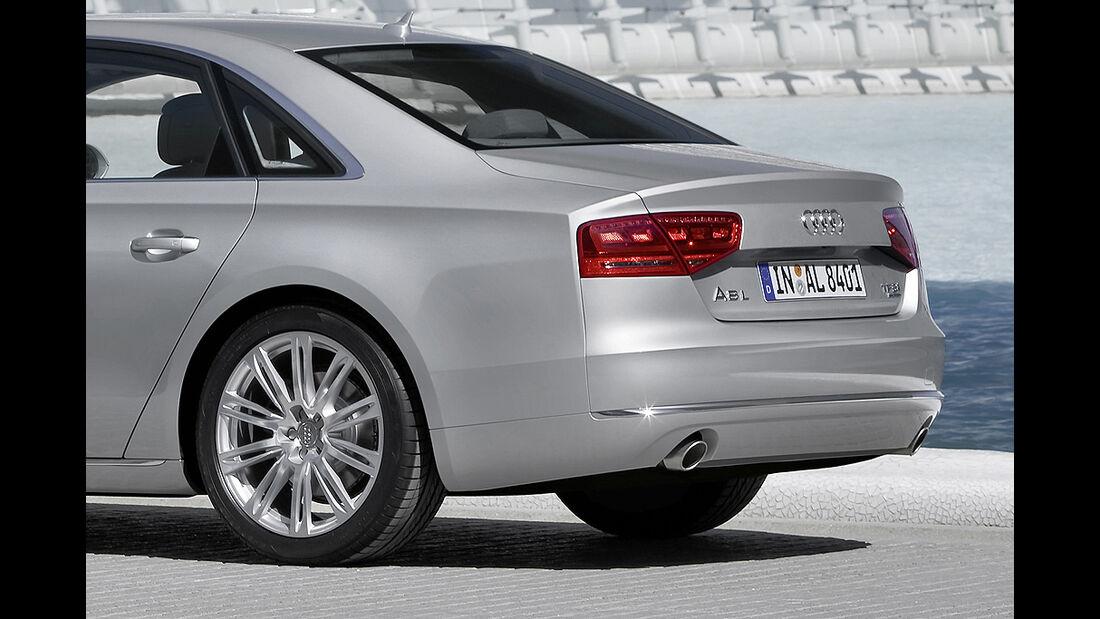 Audi A8 L, Langversion, Heck, Felge