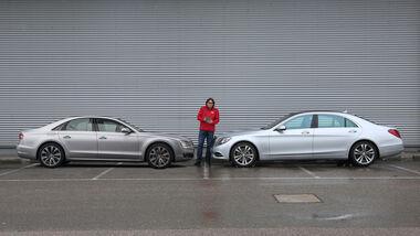 Audi A8, Mercedes S-Klasse, Seitenansicht