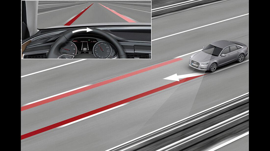 Audi Assistenzsysteme, Spurhaltesystem