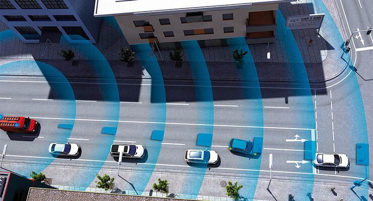 Audi Assistenzsysteme, Vernetzung, Car-to-Car