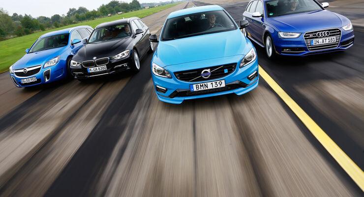 Audi Avant 3.0 TFSI, BMW 335i xDrive Touring, Opel Insignia Sports Tourer OPC, Volvo V60 Polestar