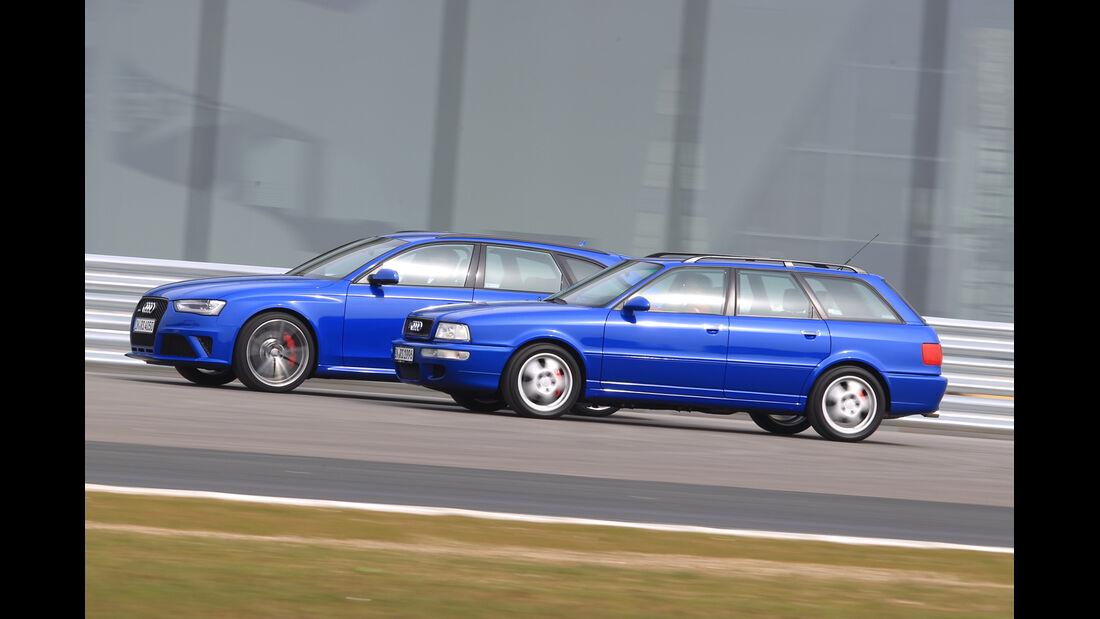 Audi Avant RS2, Audi RS4 Avant, Seitenansicht