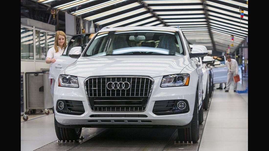 Audi-Bilanz: Gewinn sinkt um acht Prozent.