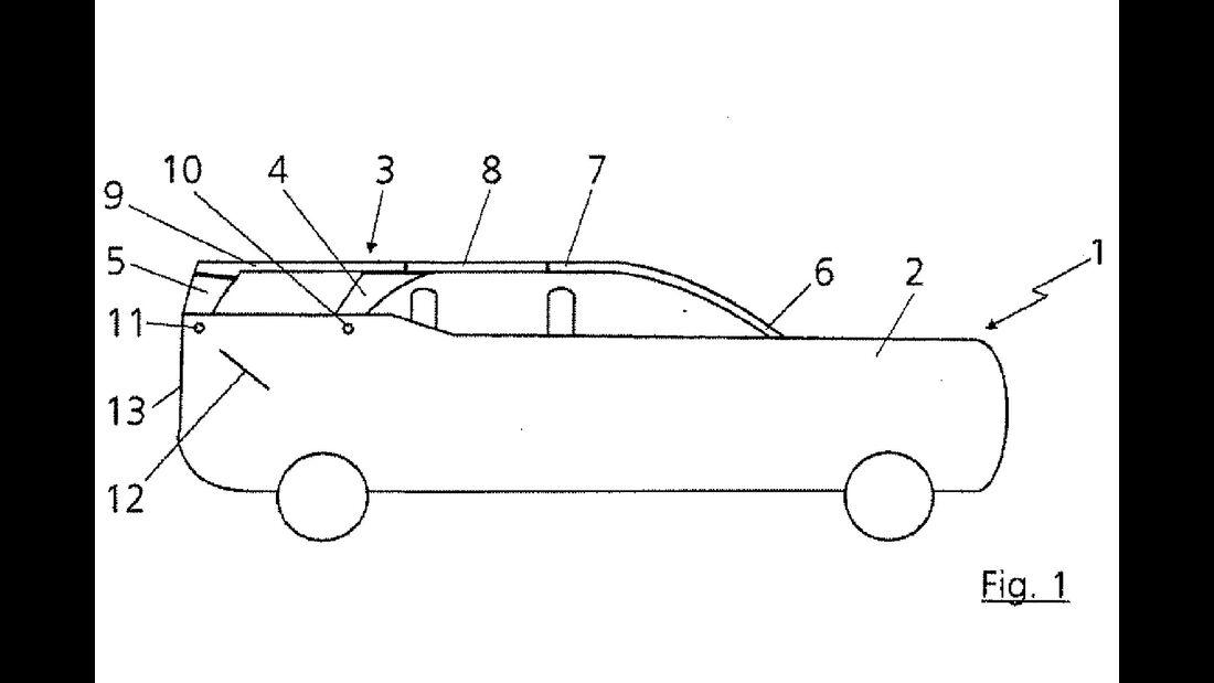 Audi Cabrio Patentzeichnung SUV