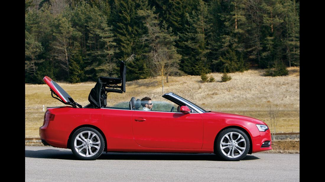 Audi Cabriolet 3.0 TFSI Quattro, Verdeck öffnet