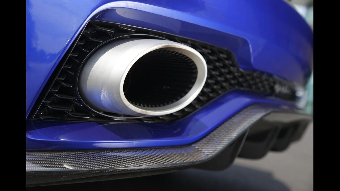 Audi Clubsport Quattro Concept, Endrohr