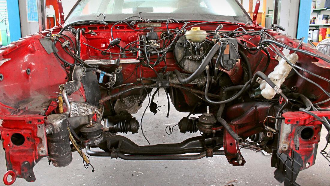 Audi Coupé 2.3 E Quattro, (1989), Demontage