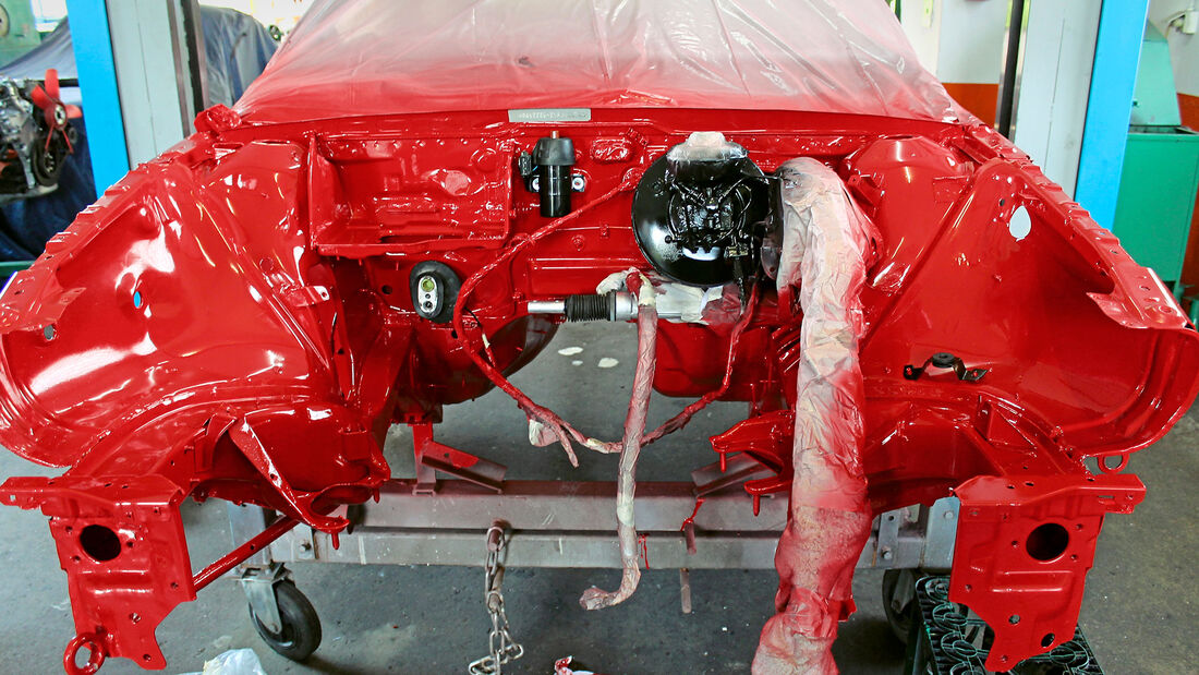 Audi Coupé 2.3 E Quattro, (1989), Lackierarbeiten