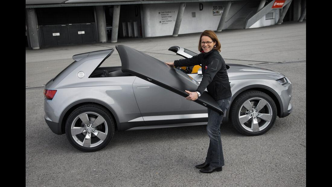 Audi Crosslane, Dach abnehmen