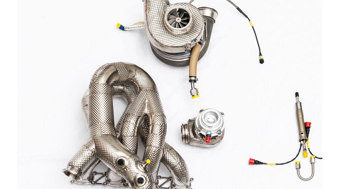 Audi - DTM 2019 - Turbolader - Garrett - Auspuffkrümmer/Abgaskrümmer