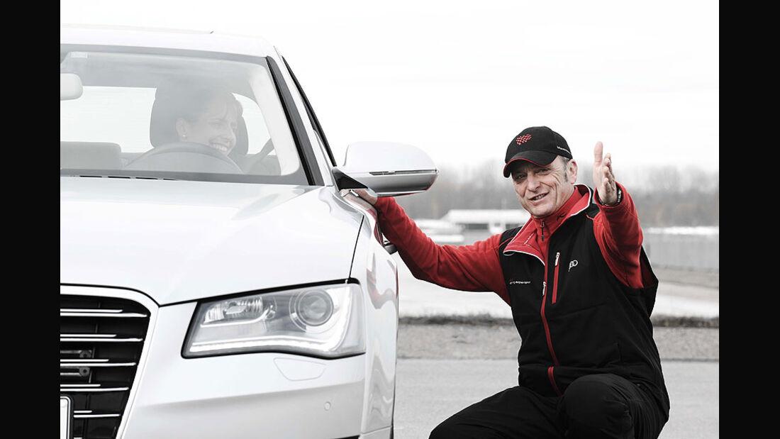 Audi Driving Experience, Audi A8, Instruktor