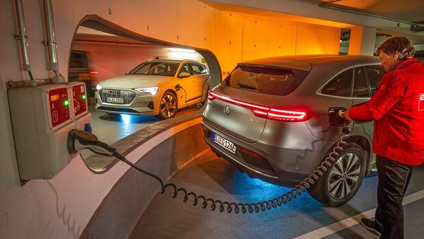 Audi E-Tron, Mercedes EQC, ams 2019_23, Exterieur