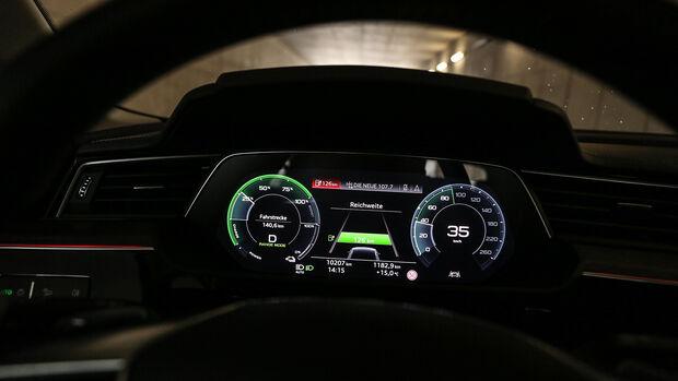 Audi E-Tron, ams 2019_23, Instrumente