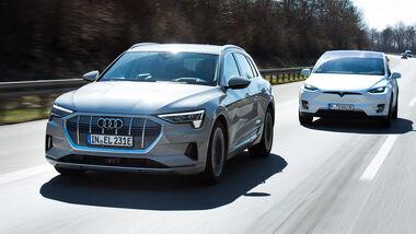Audi E-Tron gegen Tesla Model X, Langstreckentauglichkeit