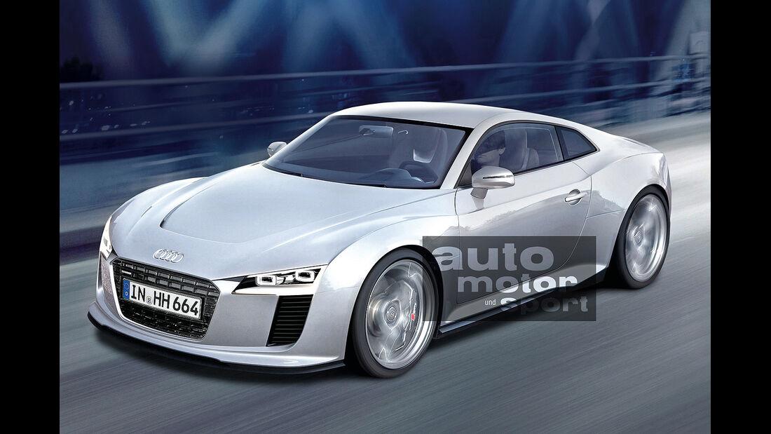 Audi, Neuheiten, R4, Seitenansicht