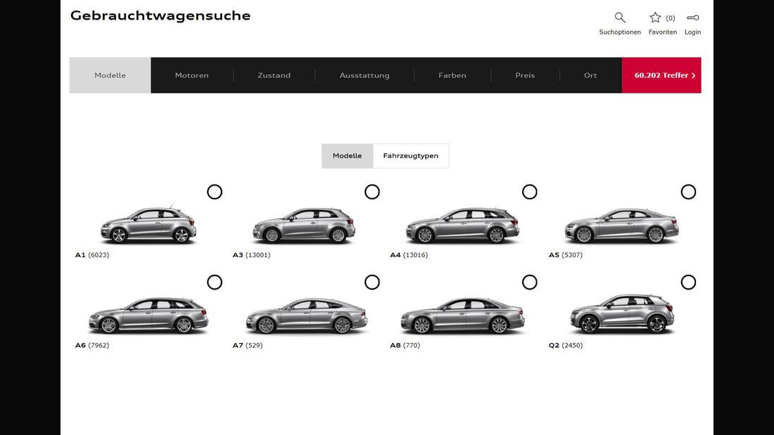 Audi Online Autohaus Gebrauchtwagen Plattform Audi Börse