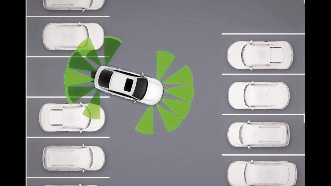 Audi, Parksystem, Grafik