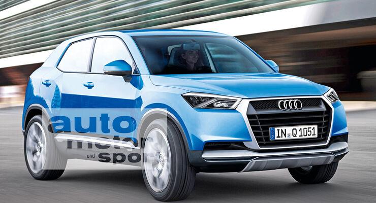 Audi Q1, Frontansicht